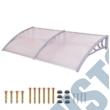 Műanyag előtető 240x90 cm fehér színben HOP1000696-3