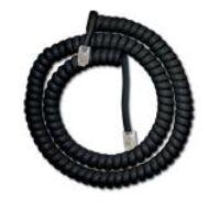 Telefon kézibeszélő zsinór 3,6m fekete