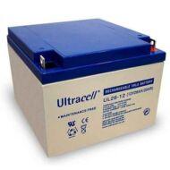 ULTRACELL 12V 26 Ah Zselés ólom akkumulátor 105303