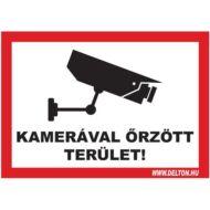 Matrica üvegre 3 A5 KAMERÁVAL őRZÖTT TERÜLET
