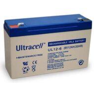 ULTRACELL 6V 12 Ah Zselés ólom akkumulátor 109040