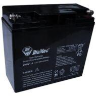 DIAMEC 12V 18Ah Zselés ólom akkumulátor