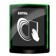 SOYAL AR-PB-888BI-GR Esztétikus infravörös érintésnélküli süllyesztett nyomógomb zöld/piros