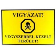 JKH Tábla műanyag A4 VIGYÁZAT,VEGYSZERREL KEZELT.. 3427101