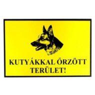 JKH Tábla műanyag A4 KUTYÁKKAL őRZÖTT TERÜLET 3427104