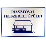 JKH Tábla műanyag A4 RIASZTÓVAL FELSZERELT ÉPÜLET 3427106