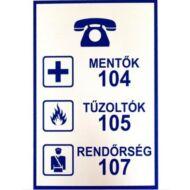 JKH Tábla műanyag A4 MENTőK,RENDőRSÉG,TűZOLTÓK 3427153