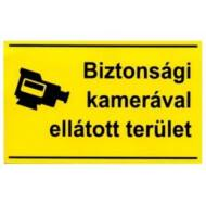 JKH Tábla műanyag A4 BIZTONSÁGI KAMERÁVAL ELLÁTOTT TERÜLET 3427162