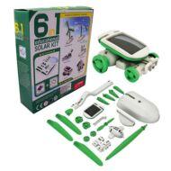 6 az 1-ben napelemes oktató készségfejlesztő játék