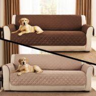 Kanapévédő takaró dupla oldalú barna/törtfehér HOP1000704