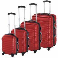 4 db-os merev falú bőrönd szett piros HOP1000938-3