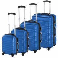 4 db-os merev falú bőrönd szett kék HOP1000938-4