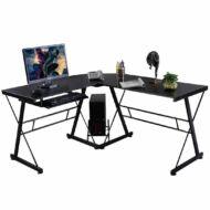 L alakú íróasztal fekete HOP1000878-1
