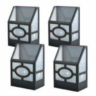 4 db kültéri fekete szolár lámpa HOP1000963-1