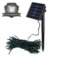 Napelemes kerti fényfüzér 100 LED melegfehér 20 méteres