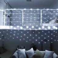 128 LED-es hálós fényfüzér hidegfehér HOP1000988-1