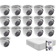 16 dome infrakamerás megfigyelőrendszer HIKVISION HDTVI 116618