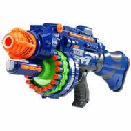 Játékfegyver hanggal ajándék töltény szettel kék HOP1001112-1