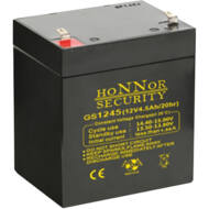 HONNOR 12V 4,5Ah zselés ólom akkumulátor 117943