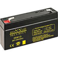 HONNOR 6V 1,3Ah zselés ólom akkumulátor 117951