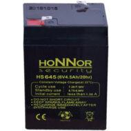 HONNOR 6V 4,5Ah zselés ólom akkumulátor 117955