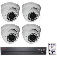 4 vari. dome kamerás HDCVI CP PLUS megfigyelőrendszer 116865