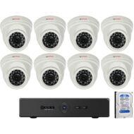 8 dome kamerás AHD CP PLUS megfigyelőrendszer 116860