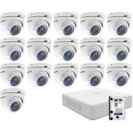 16 varifokális dome infrakamerás megfigyelőrendszer HIKVISION HDTVI 116620