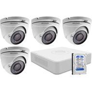 4 dome infrakamerás megfigyelőrendszer HIKVISION HDTVI 116616