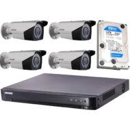 4 varifokális infrakamerás megfigyelőrendszer HIKVISION HDTVI 121276