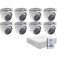 8 dome infrakamerás megfigyelőrendszer HIKVISION HDTVI 116617