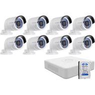 8 infrakamerás megfigyelőrendszer HIKVISION HDTVI 116614