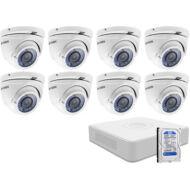 8 varifokális dome infrakamerás megfigyelőrendszer HIKVISION HDTVI 116623