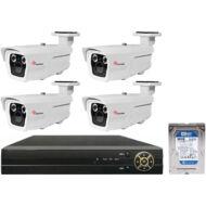 4 varifokális infrakamerás megfigyelőrendszer SANAN AHD 114512