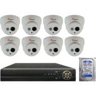 8 dome infrakamerás megfigyelőrendszer SANAN AHD 114508