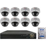 8 varifokális dome infrakamerás megfigyelőrendszer SANAN AHD 114515