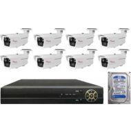 8 varifokális infrakamerás megfigyelőrendszer SANAN AHD 114513