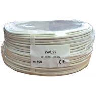 2 x 0.22 eres biztonságtechnikai kábel réz 116695