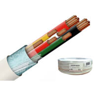 Erősített biztonságtechnikai kábel 2 x 0.5 + 4 x 0.22 réz 116702