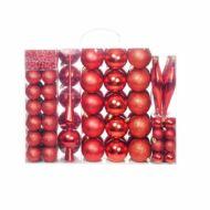 112 részes karácsonyfadísz piros HOP1001123-1