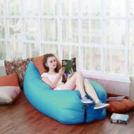 Levegővel tölthető relax ágy kék HOP1000725-5