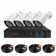 Vezetékes AHD kamerarendszer 4-kamerás HOP1001219