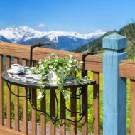 Lehajtható balkon asztal fekete HOP1000929-1