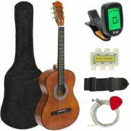 Akusztikus gitár szett kezdőknek ajándék hangolóval barna HOP1000982-2