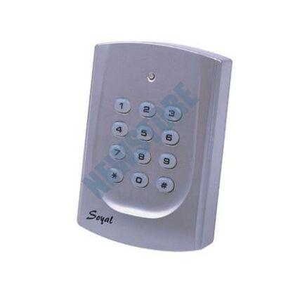 SOYAL AR-721K-A ezüst Kártyaolvasó és kódbillentyűzet hálózati központokhoz AR721KA