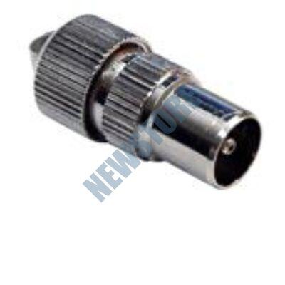 KOAX dugó RG-59 és RG-6 kábelekhez egyenes csavarozható fém