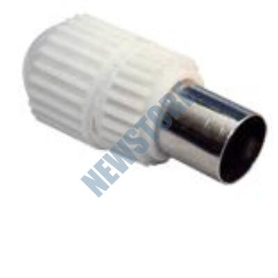 KOAX dugó egyenes RG-58 RG-6 kábelekhez műanyagházas
