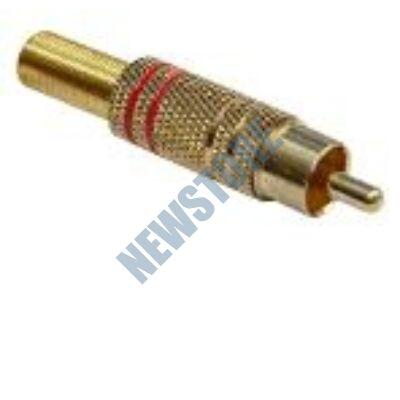 RCA dugó fém Aranyozott csatlakozás törésgátlóval