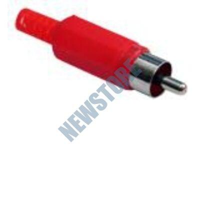 RCA dugó műanyag piros