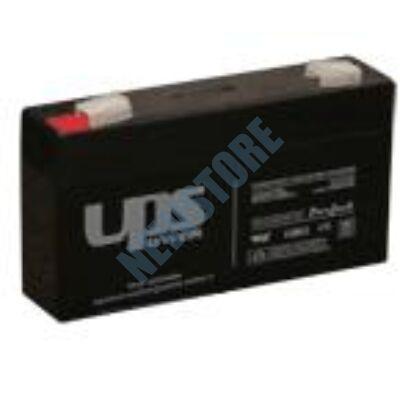 UPS 6V 1,3Ah zselés savas ólom akkumulátor
